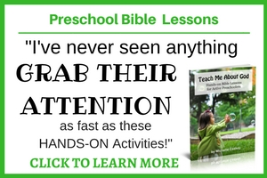 Want to teach your preschooler about God but you aren't sure how to get started. Use these hands-on lessons to help your child understand who God is and what He want from them. Click through to learn more!